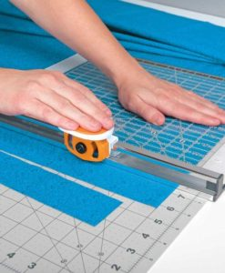 Cutting fabric with the fiskars 6x24 rotary cutter combo