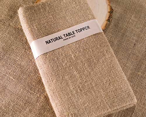 Burlap Table Topper