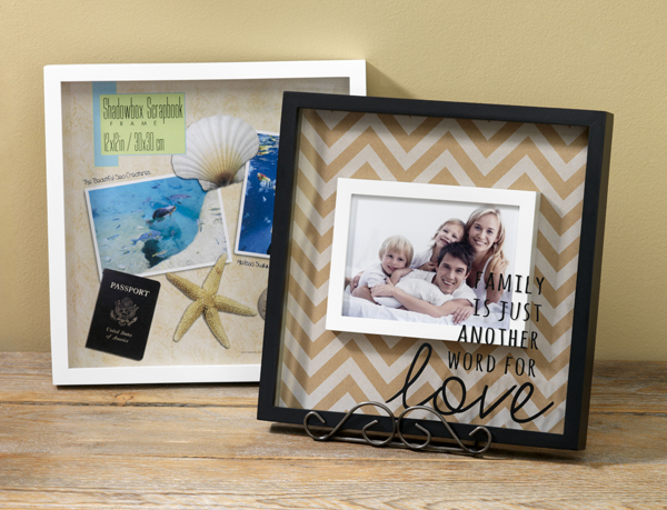 8x8 shadow box frame supplies scrapbook paper bull nose clip decorating your life vinyl e6000 - Shadow Box Frames