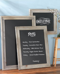 Wide Barnwood Frames with Chalkboards