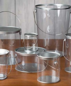 Clear Acrylic Paint Pails