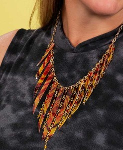 Fabric and Chain Necklace