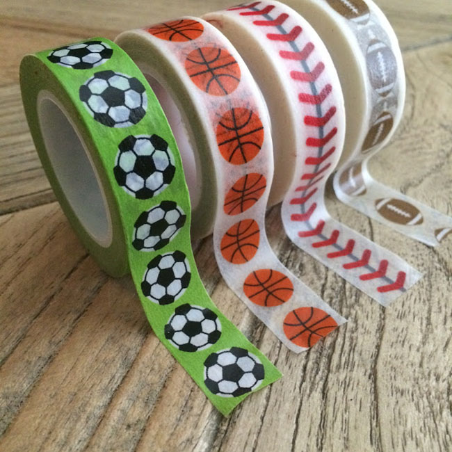 Sports washi tape at Craft Warehouse