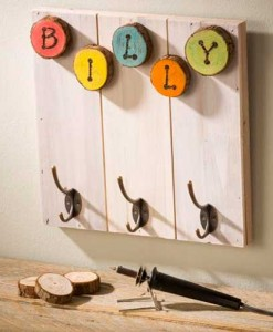 Small Wood Slat Board - hangers