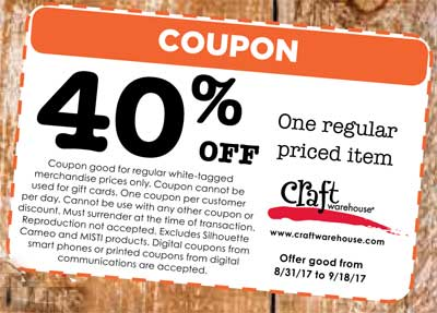 Gresham or craft warehouse location for Craft warehouse coupons 2017