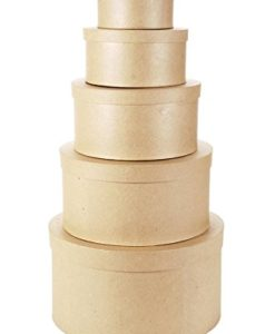 5 Nesting Paper Mache Boxes at Craft Warehouse