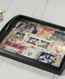 Black Photo Tray for Mother's Day
