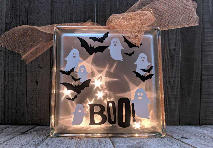 Halloween Glass Block