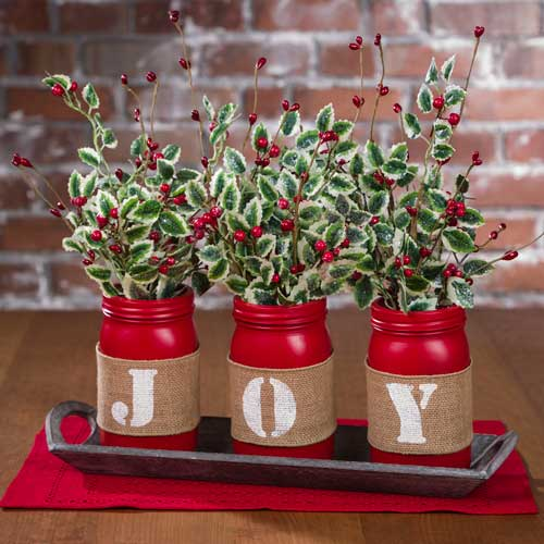 Diy Christmas Decorations Nz : Make a quot joy mason jar tablescape from craft warehouse