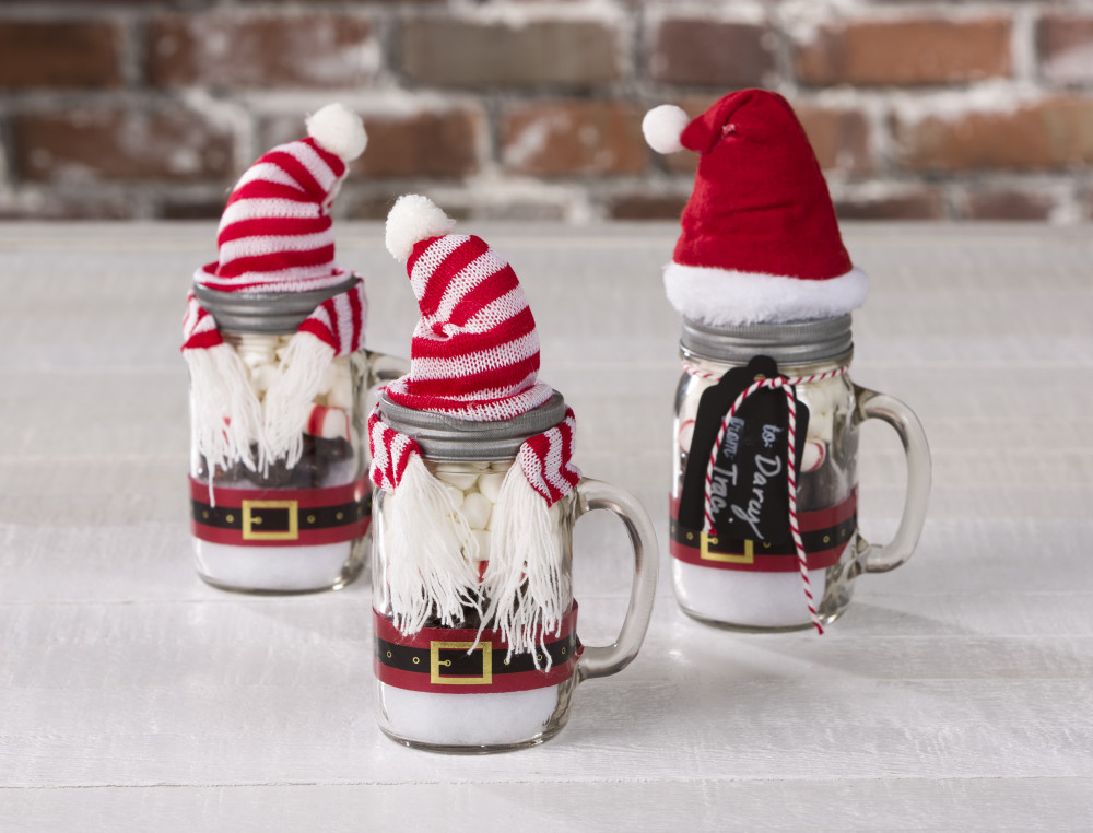 Mini Santa Cocoa Mason Jar Craft Warehouse
