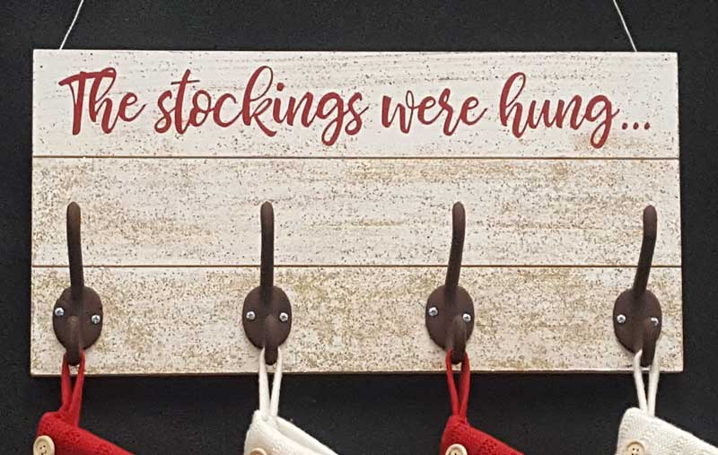 "The Stockings Were Hung..."" Wall Plaque"