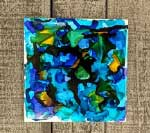 Alcohol Ink Tile Art