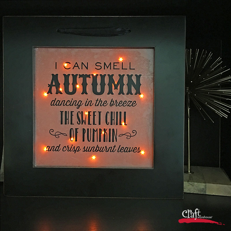 Make This: Light-Up Float Frame Wall Art