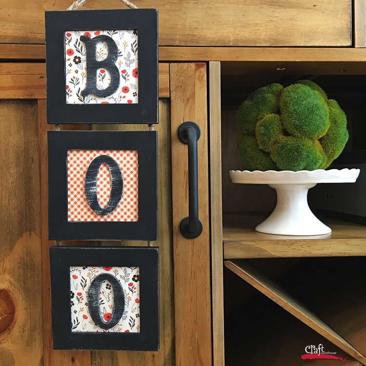 Make this Boo Sign - learn how on craftwarehouse.com