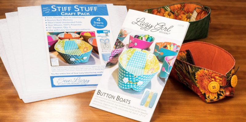 Button Boats Instructions and Interfacing from Lazy Girl Designs at Craft Warehouse