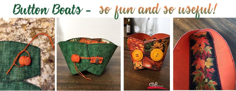 Button Boats from Lazy Girl Designs