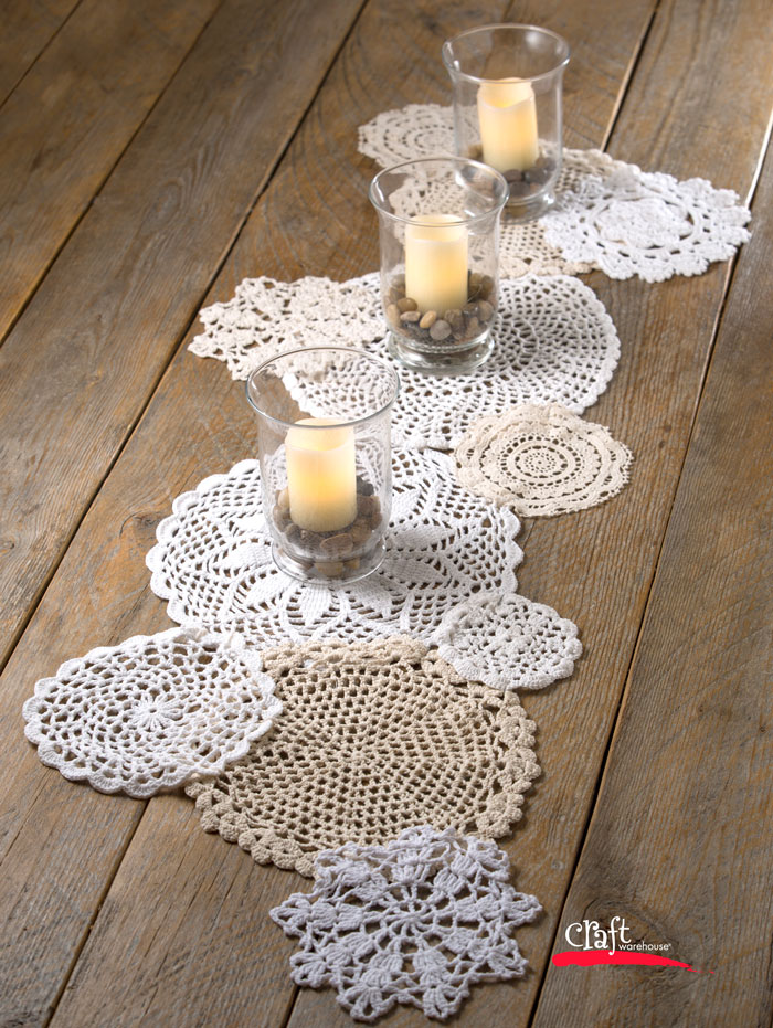 table doilies. Crochet Doily Table Runner How To At Craft Warehouse Doilies O