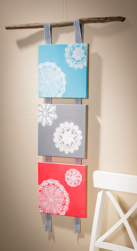 Paint Doilies on Canvas from Craft Warehouse