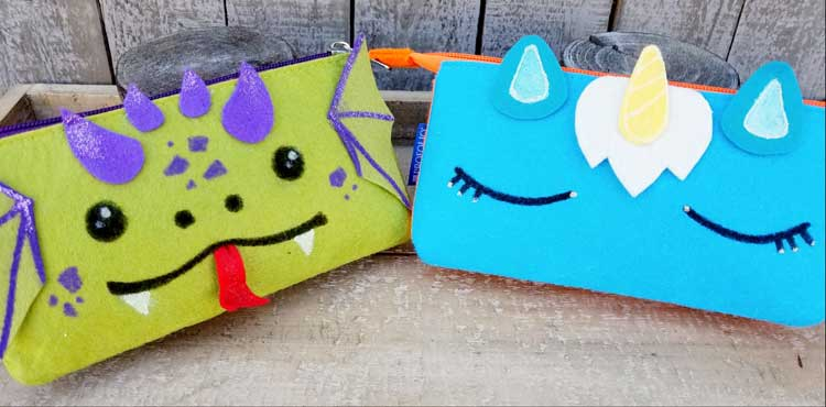 Kid's Craft Day - Back to School Unicorn/Dragon Pencil Pouch