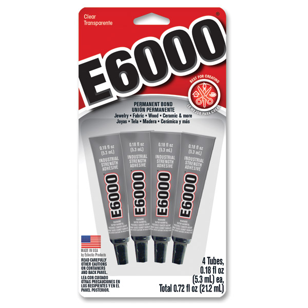 Tiny Tubes of E6000 Craft Glue available at Craft Warehouse