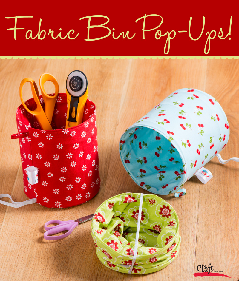 Make this fabric pop up bins craft warehouse for Fabric crafts to make