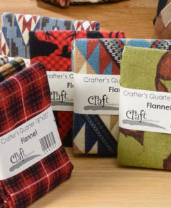 Flannel Fat Quarters sold as singles for quilting at Craft Warehouse