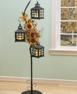 3 tier metal floor lamp stand for electric candles available at Craft Warehouse