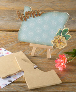 Home state shape to decorate at Craft Warehouse