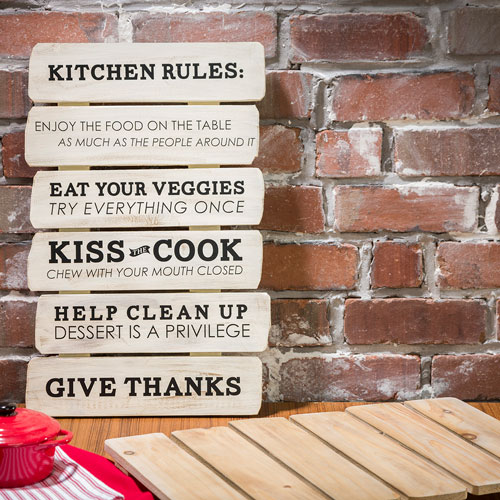 19x12 Kitchen Rules slatboard model