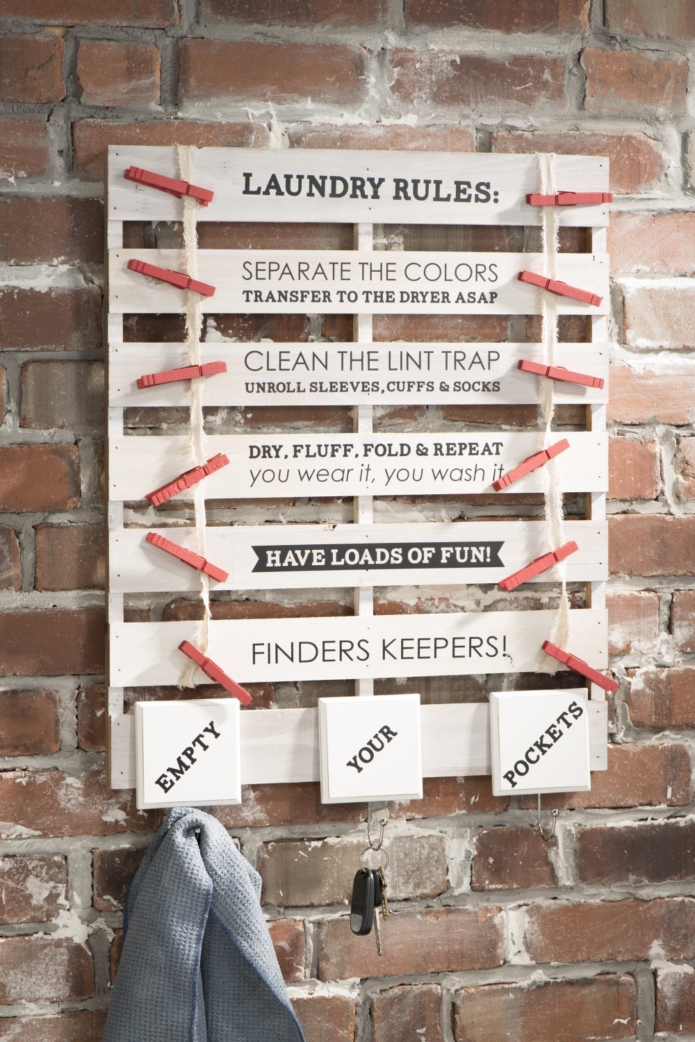 Laundry Rules Pallet Board