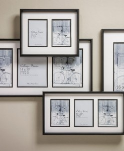 Black Collage Frames with Fillet