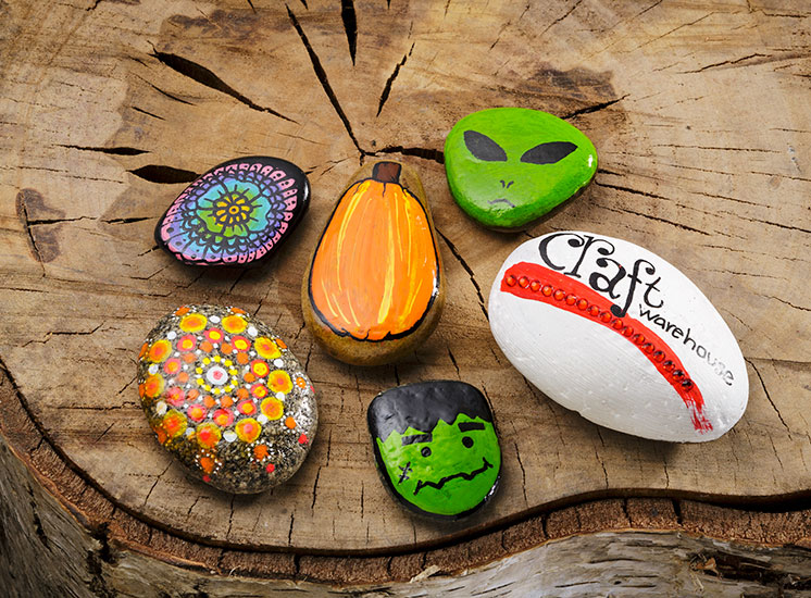 Learn about painting rocks and hiding them at craft warehouse for Handley rock jewelry supply vancouver wa