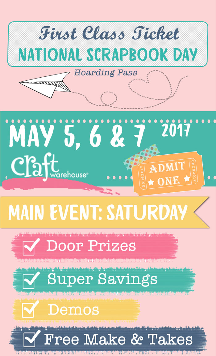 National scrapbook day event craft warehouse for Craft warehouse coupons 2017