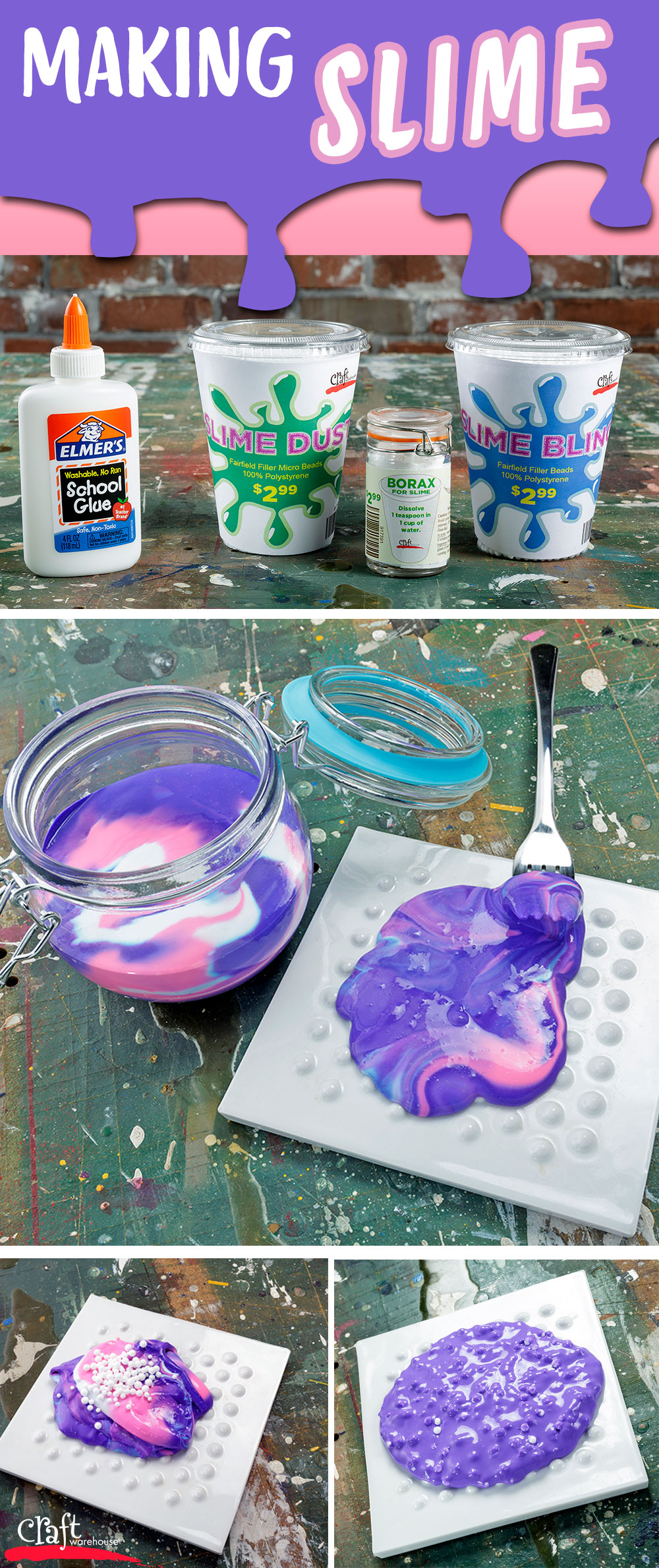 Making Slime at Craft Warehouse