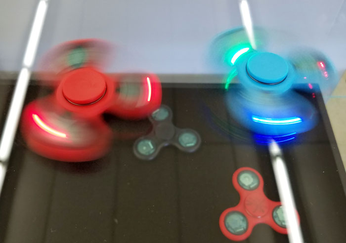 Spinning spinners at Craft Warehouse