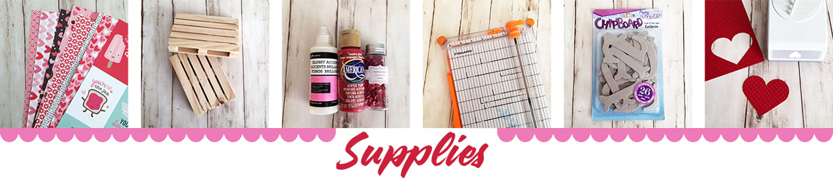 Supplies for Palette Love Sign at Craft Warehouse